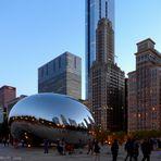 Das Cloud gate in Chicago
