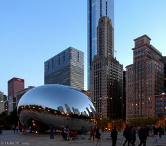Das Cloud gate in Chicago