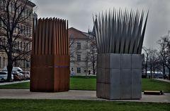 das Denkmal von Jan Palach / Prag