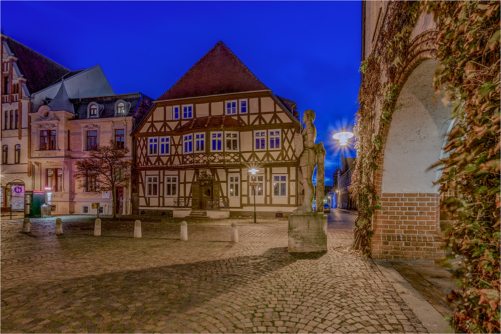 Das deutsche Haus am Rathausplatz in Gardelegen