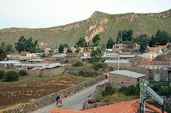 Das Dorf Corporaque am frühen Morgen