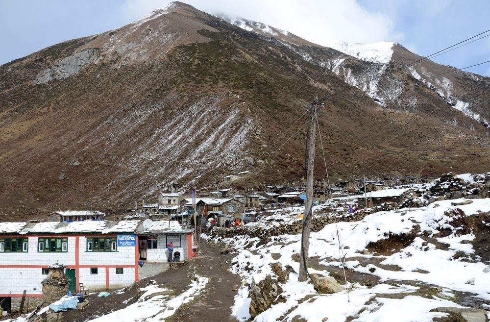 Das Dorf Samdo in der Manaslu-Region
