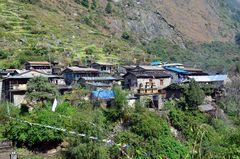 Das Dorf Tilche in der Manaslu-Region