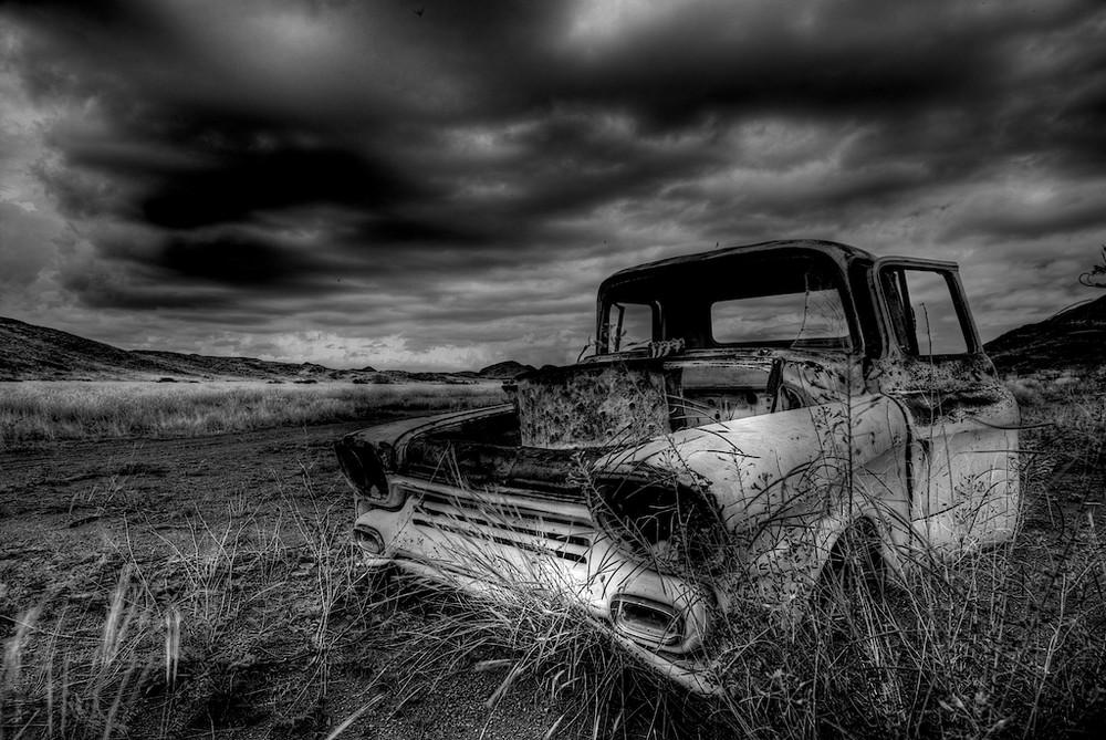 das dritte aus der serie schrottautos in namibia, damaraland