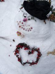 das eiskalte Herz -Schneemann Nr. 3