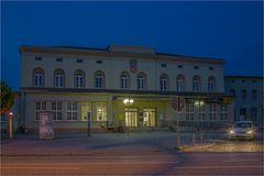 Das Empfangsgebäude des Bahnhofes Aschersleben