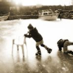 Das erste Mal auf dem Eis