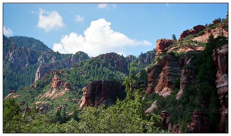 Das Farbenspiel im Oak Creek Canyon - Arizona, USA