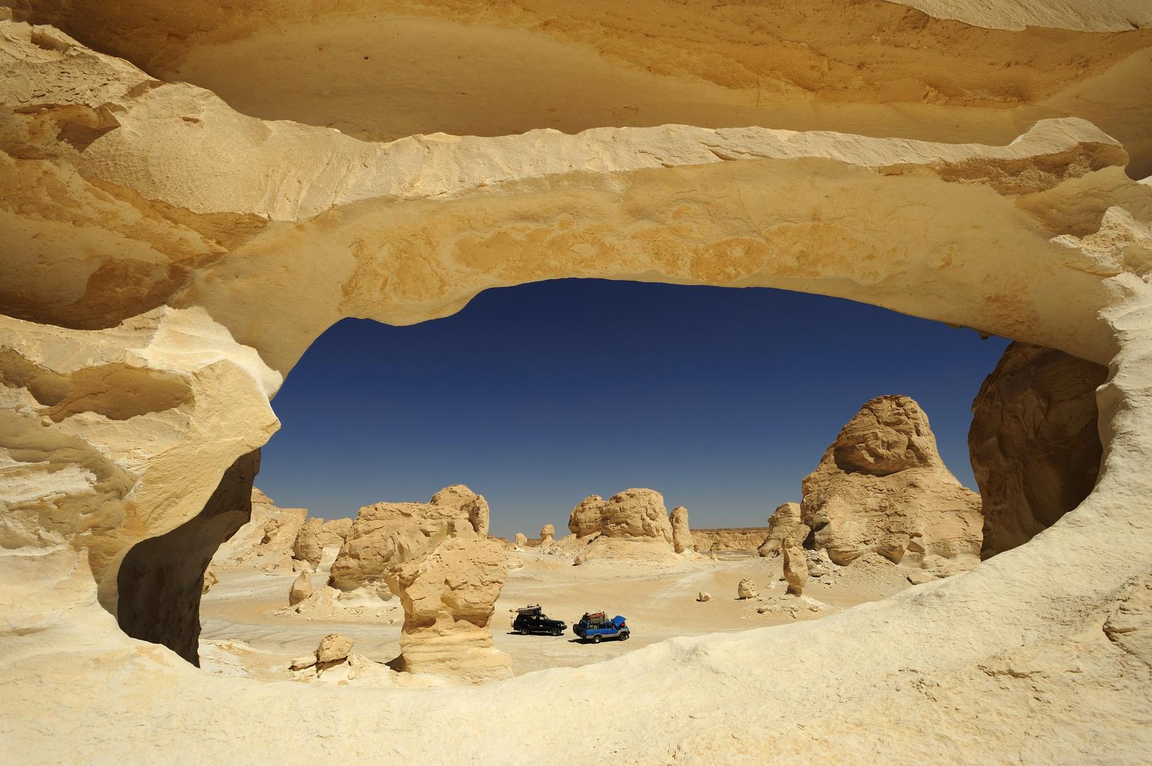 Das Fenster zur Sahara, westliche Weisse Wüste