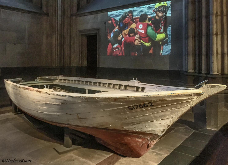 Flüchtlingsboot Köln