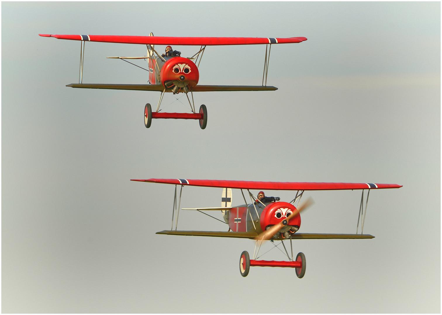Das Fokker - Team im Einsatz