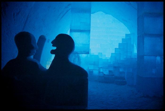 Das Foyer des Icehotels