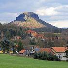 Das ganz besondere Licht gestern Nachmittag auf dem Wahrzeichen der Sächsischen Schweiz...