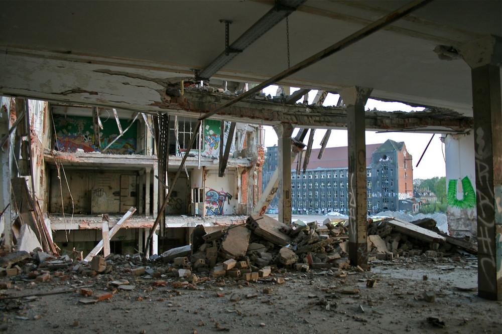 Das Gebäude vor der Sprengung