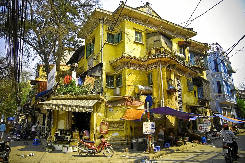 Das gelbe Haus in Hanoi Foto & Bild
