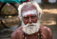 Das Gesicht eines Sadhus