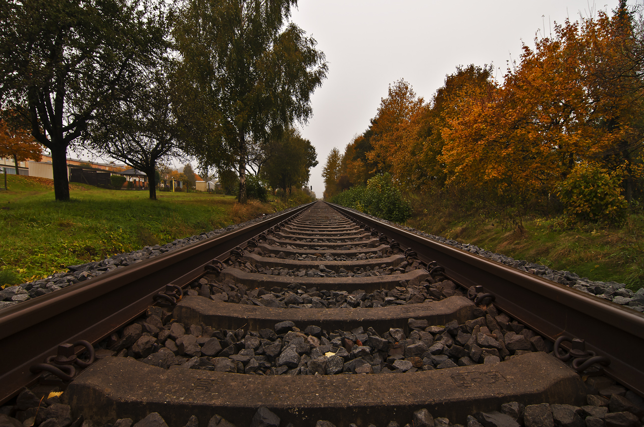 ***   Das Gleis in den Herbst   ***