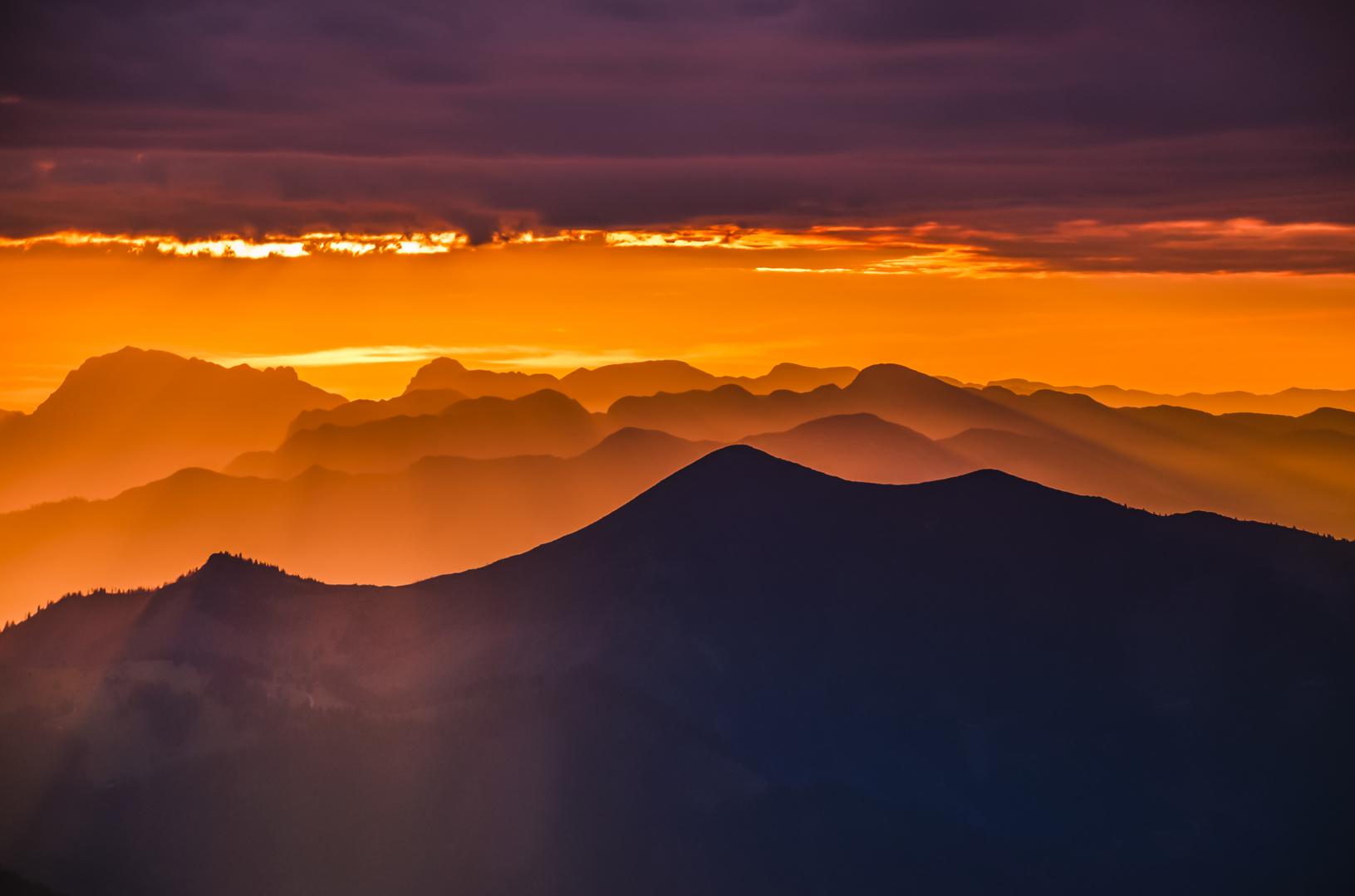 Das gleißende Licht der Sonne wenn sie den Tag beginnt...