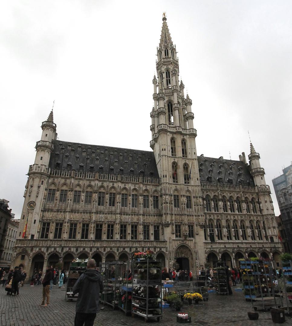 Das gotische Rathaus von Brüssel