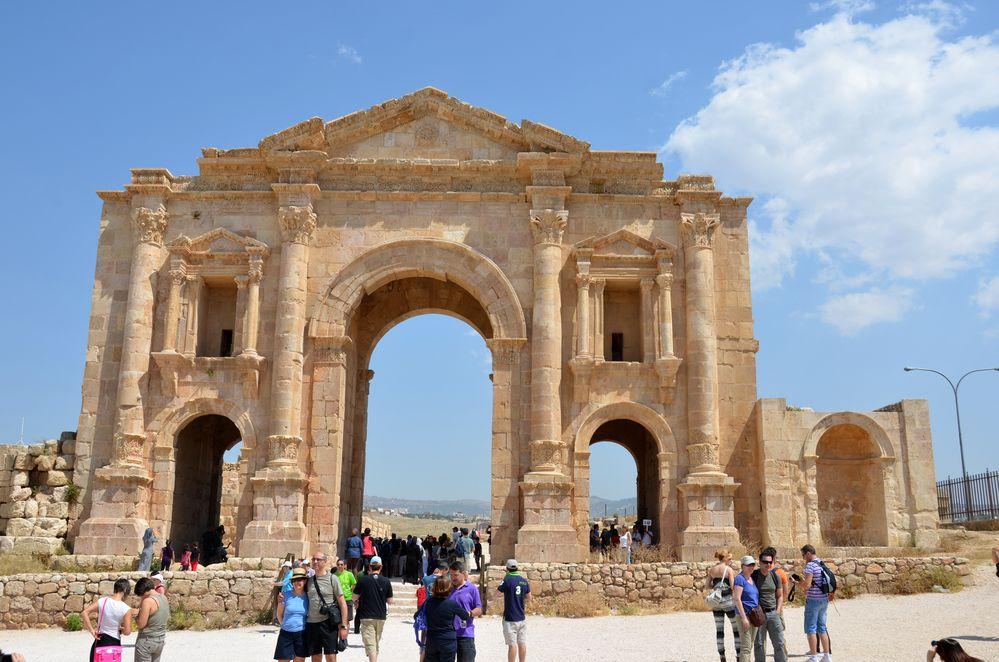 Das Hadrianstor in Jerash