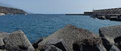 Das Hafenbecken....
