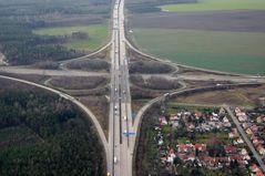 das Hermsdorfer Kreuz  A4/A9 Thüringen