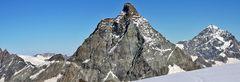 Das Horn aller Hörner vom 3800 Meter hochgelegenen Breithorngletscher aus...