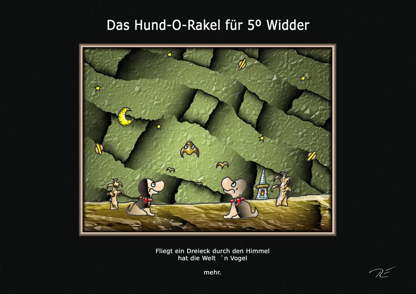 Das Hund-O-Rakel für 5º Widder