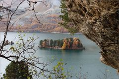 das Inselchen im Silsersee
