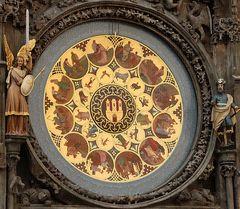 Das Kalendarium am Altstädter Rathaus in Prag