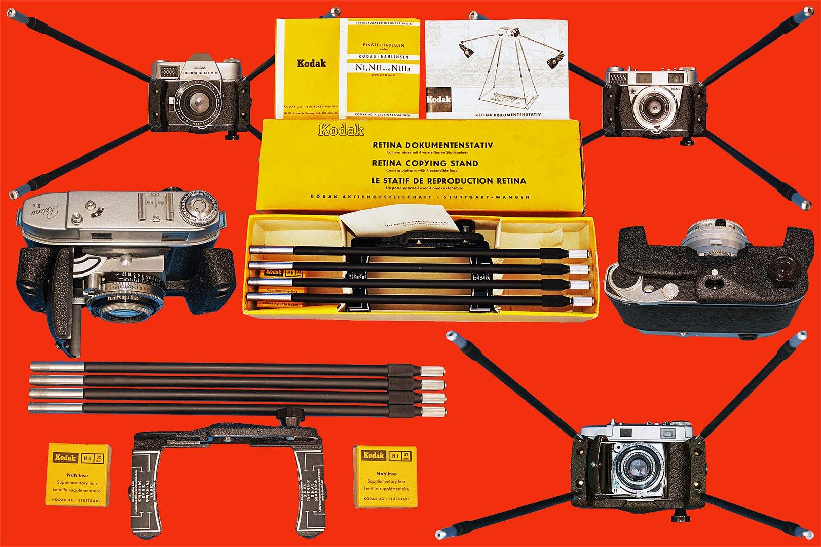 Das Kodak Retina Dokumentenstativ