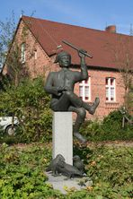 Das Krabatdenkmal in Schwarzkollm bei Hoyerswerda