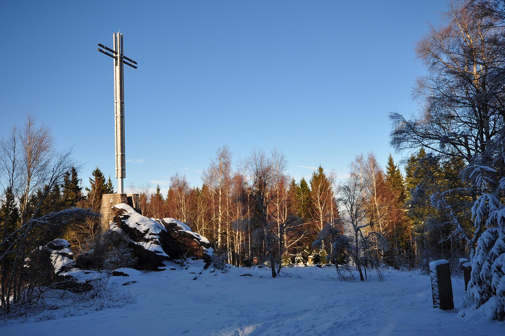 Das Kreuz des Deutschen Ostens über Bad Harzburg