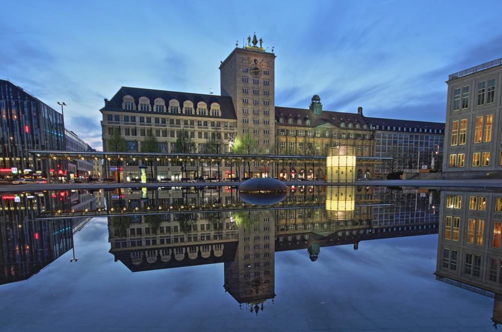 Das Krochhochhaus in Leipzig