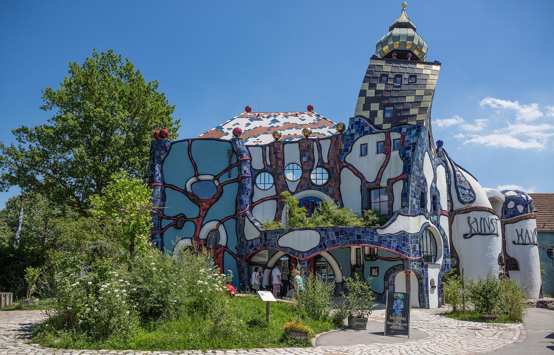 Das kunsthaus von hundertwasser foto bild kunst for Hundertwasser architektur