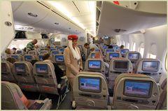 """Das Lächeln der """"Emirates""""im A380"""