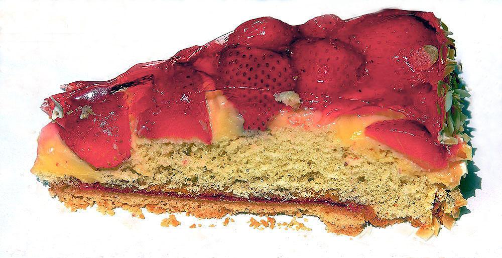 Das letzte Stück Pfingstkuchen ...