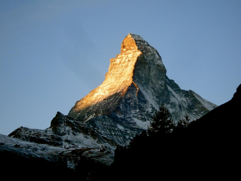 das Licht am Matterhorn