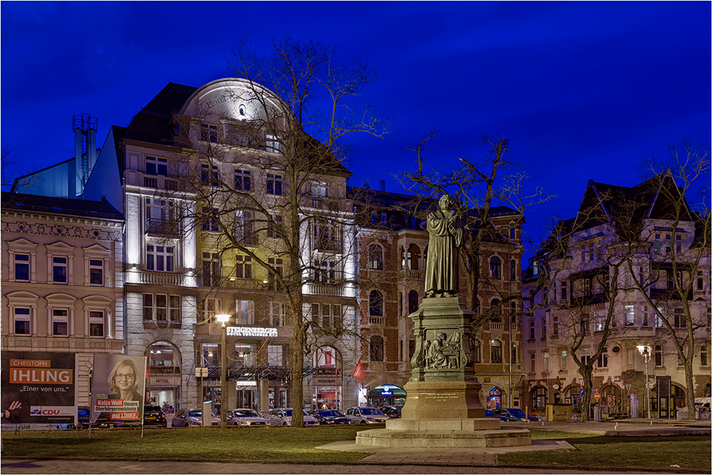Das Lutherdenkmal in Eisenach