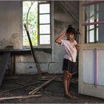Das Mädchen in der alten Kirche