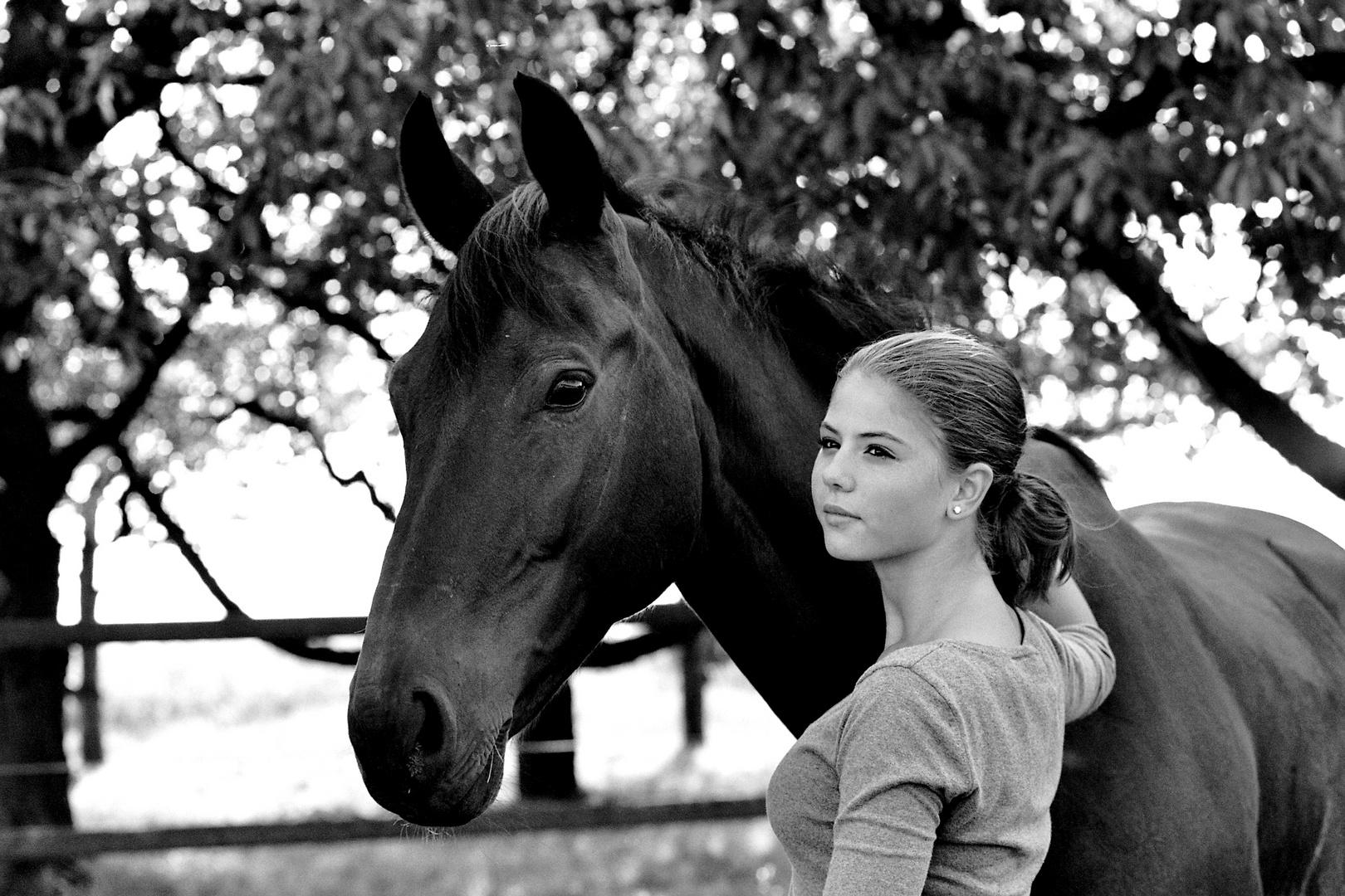 das mädchen und ihr pferd #2 foto & bild | erwachsene