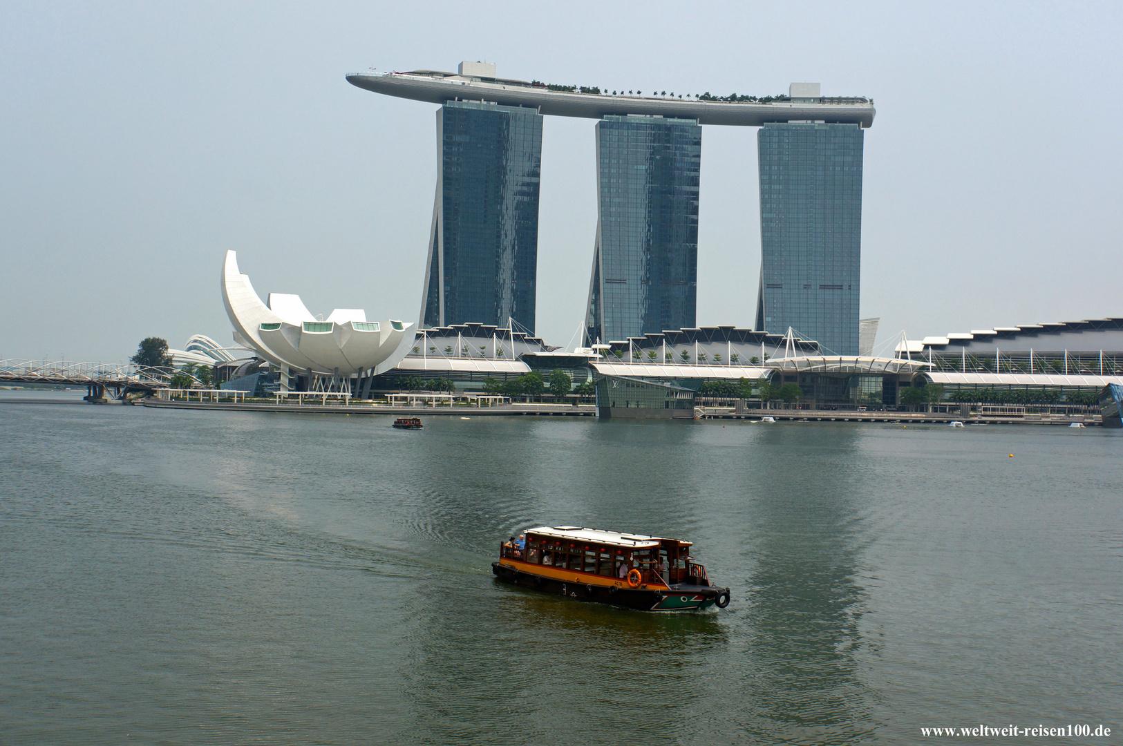 Das Marina Bay Sands Hotel in Singapur