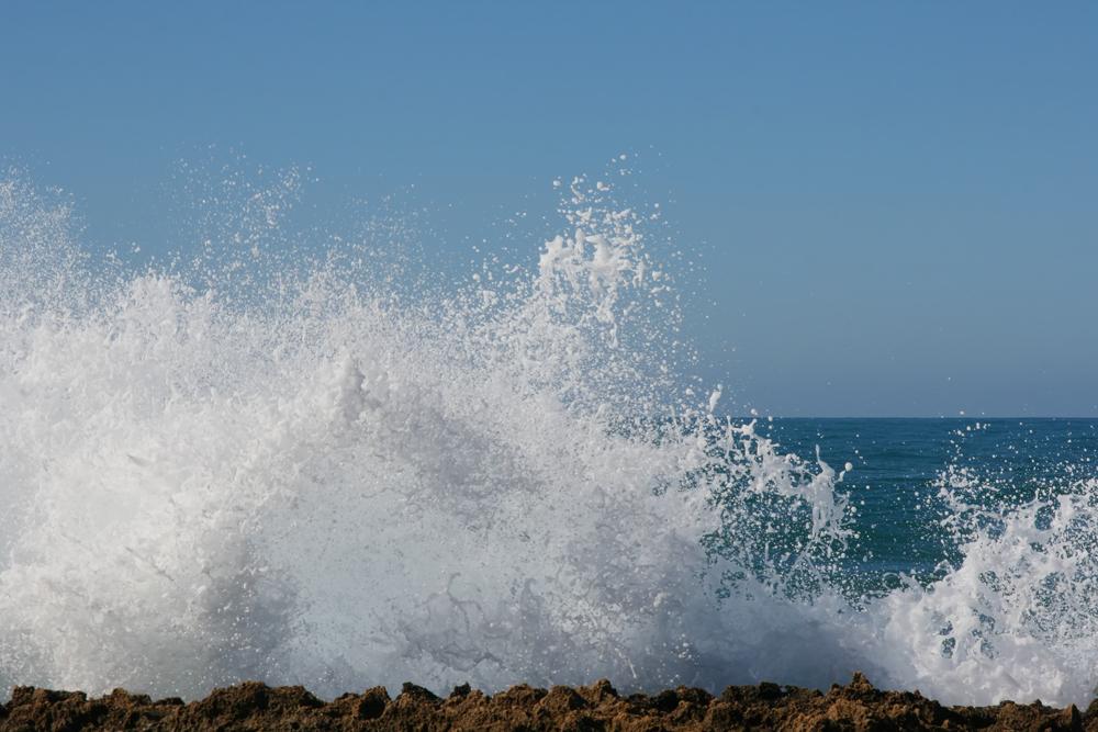 das Meer tobte