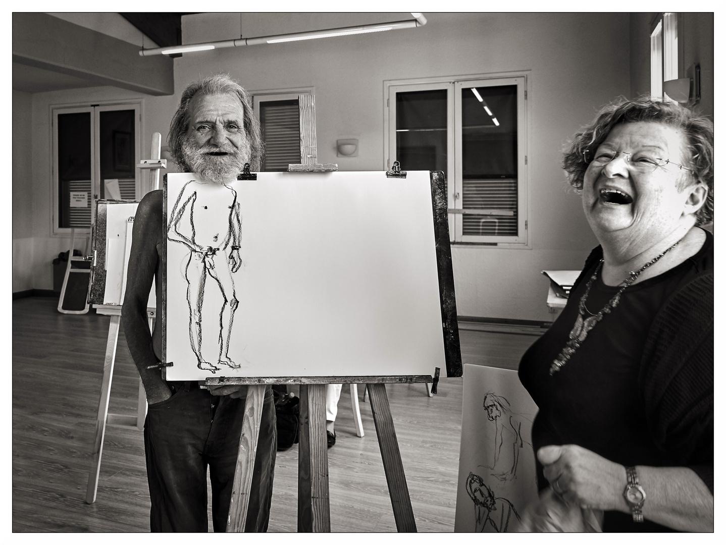 Das Model und die Künstlerin