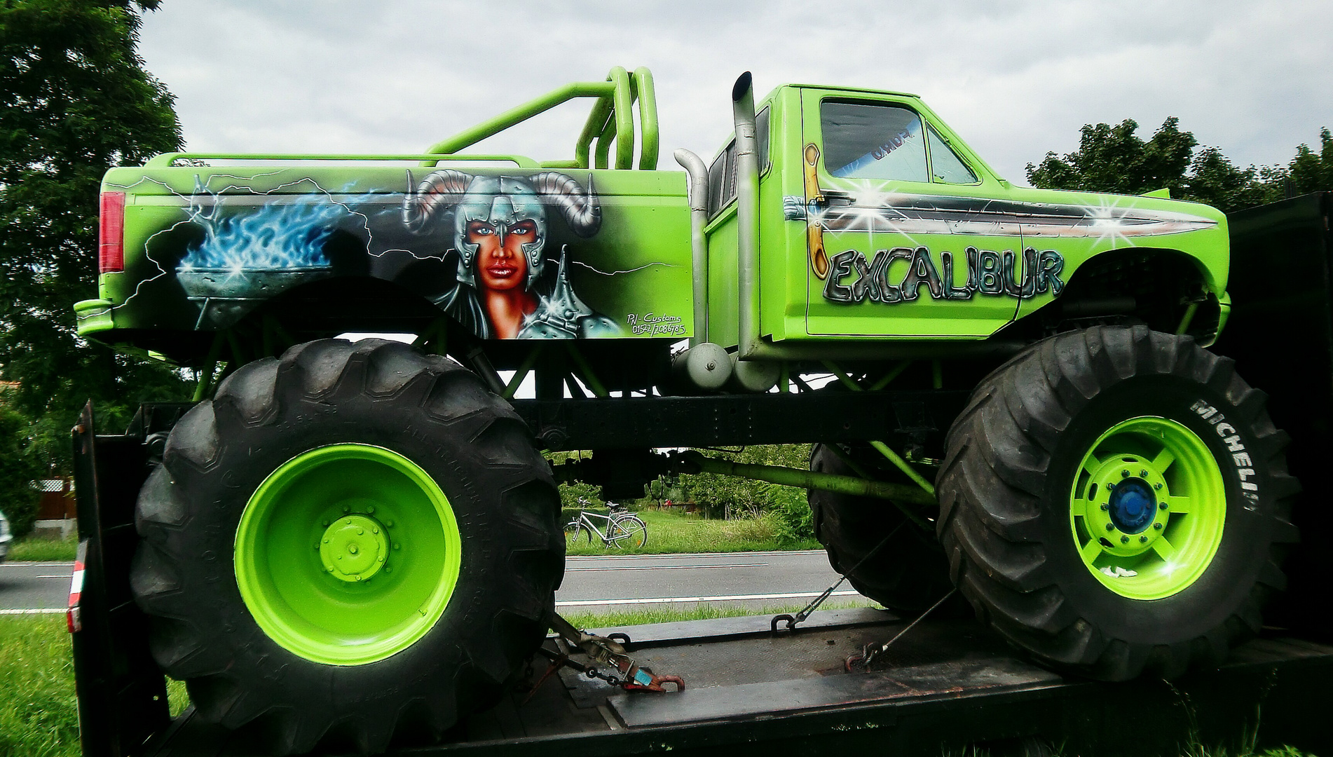 Das Monster ist bereit zum Transport
