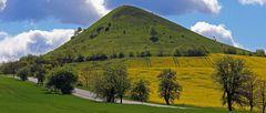 Das Naturschutzgebiet am Berg Cicov, der zu den Lauener Steppenbergen...