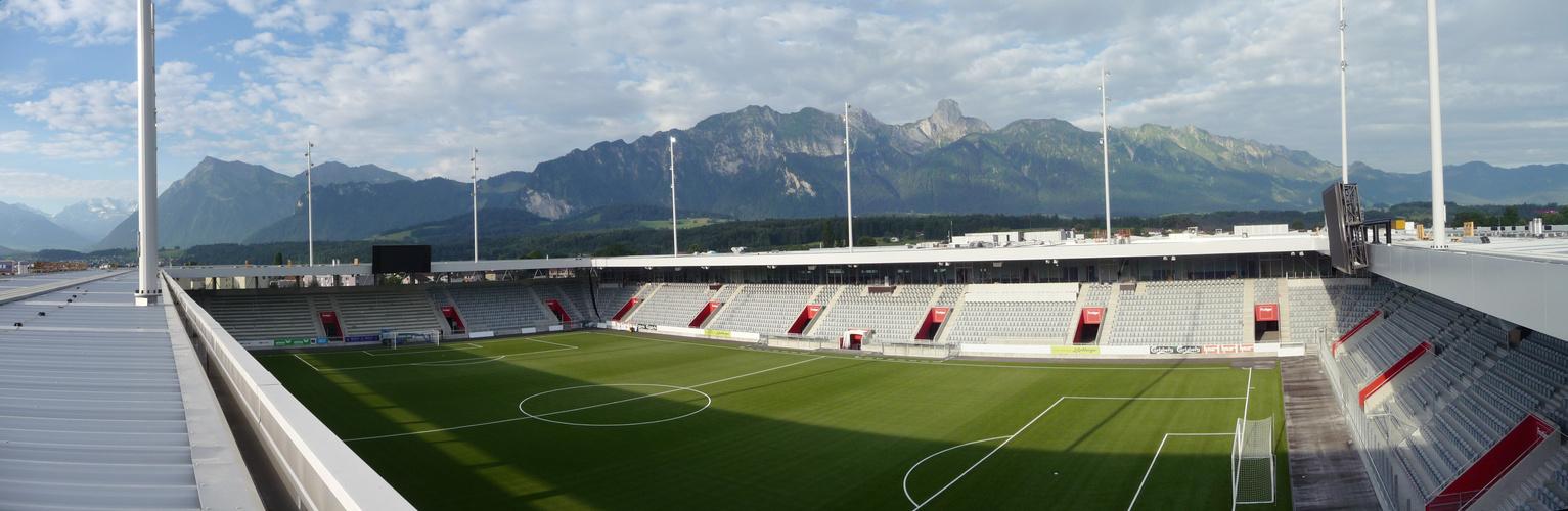 das neue Fussballstadion Thun....