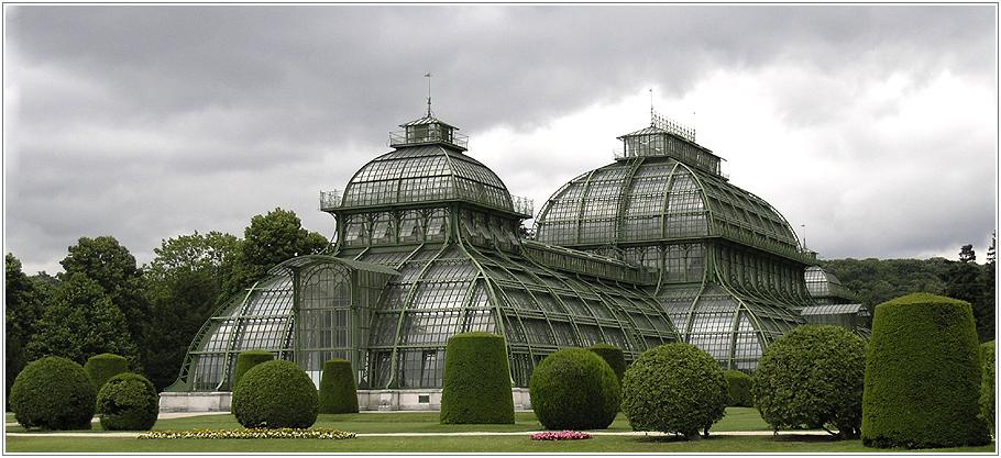 das palmenhaus an einem regentag ...