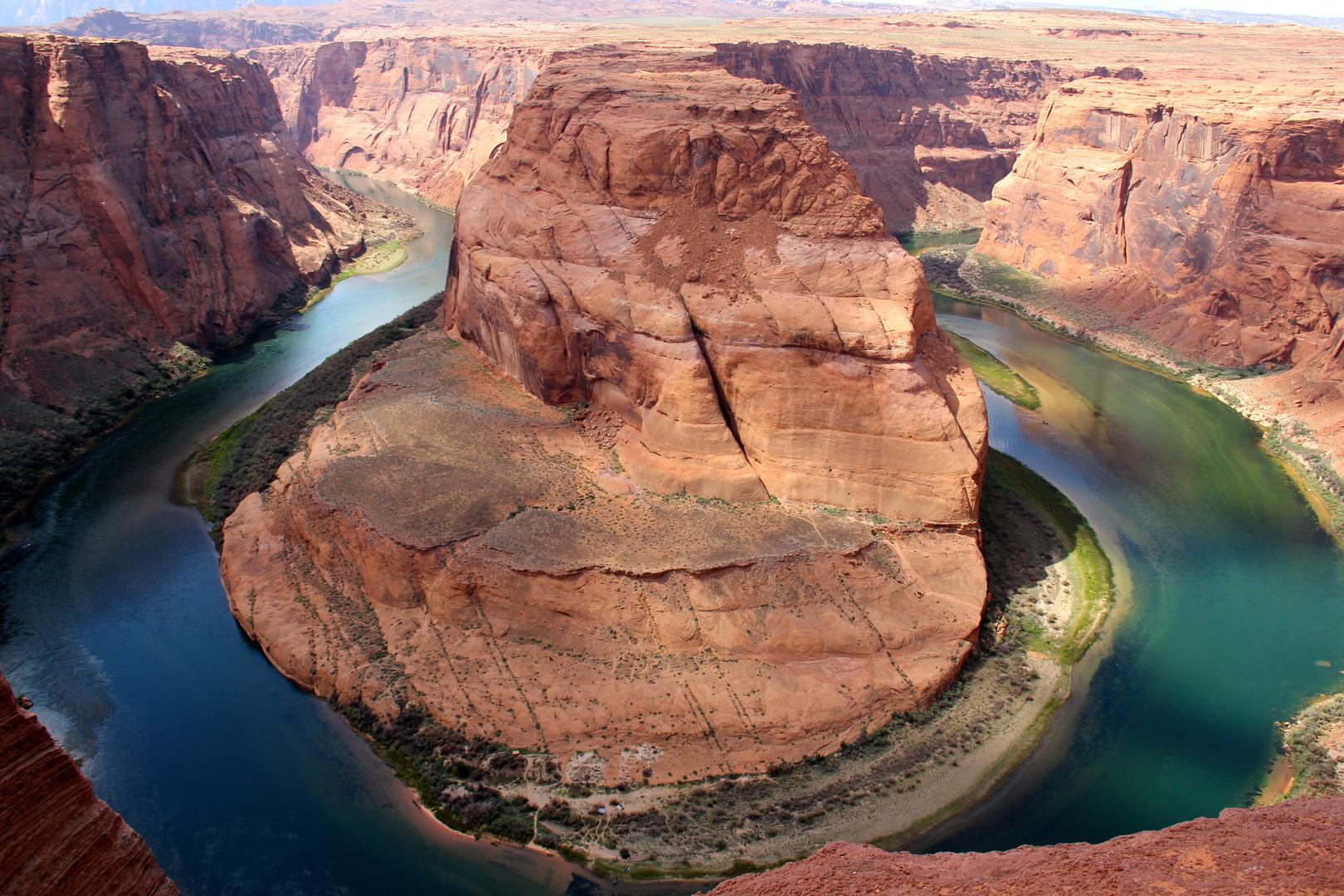 Das Pferd hat den Schuh verloren im Colorado River...