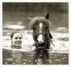 Das Pony und Eva